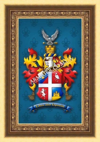 Герб рода Смолянкиных (г.Красноград)