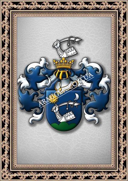 Фамильный герб. Барон Vlad Mах ORBAN (г.Прага, Чехия)
